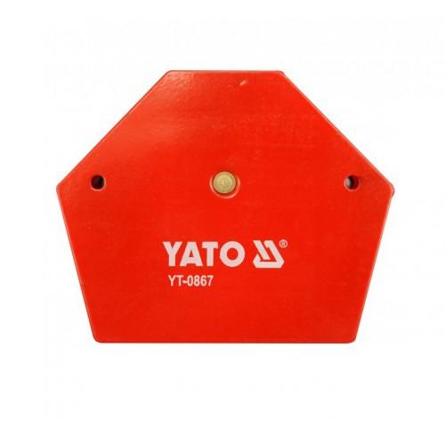 Магнитная струбцина для сварочных работ, размер: 111х136х24мм (углы 30 °, 45 °, 60 °, 75 °, 90 ° и 135 °) YATO YT-0867