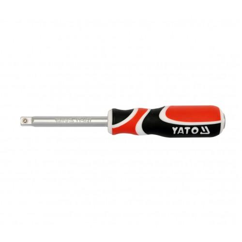 """Вороток-отвертка для торцевых  головок, квадрат: 1/4"""", длина: 150 мм YATO YT-1427"""