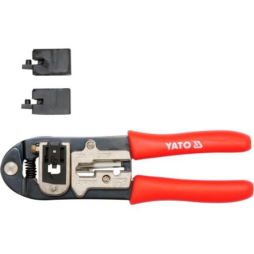 Инструмент для обжима и зачистки сетевых кабелей, длина: 195мм YATO YT-2244