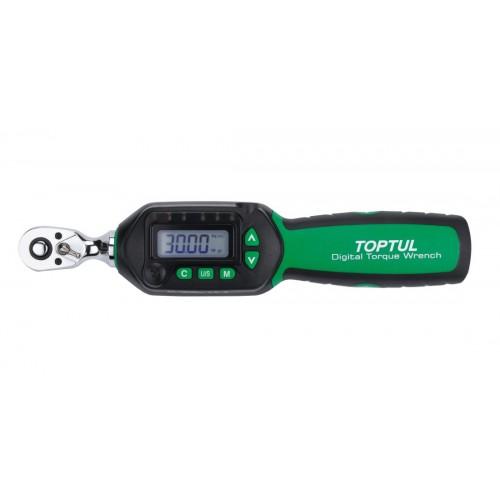 """Ключ динамометрический 1.5-30Нм (цифровой) 1/4"""" укороченный TOPTUL DT-030S"""