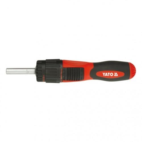 Отвертка с передачей+трещотка +12вставок YATO YT-2805