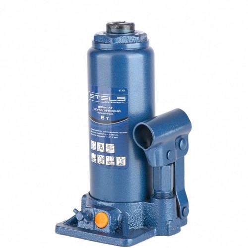Домкрат гидравлический бутылочный, 6 т, H подъема 216-413 мм. STELS 51103