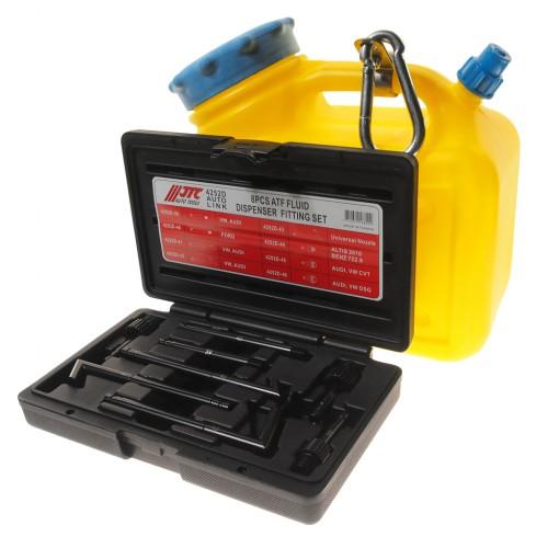 Приспособление для заправки АКПП маслом с набором адаптеров 8 единиц
