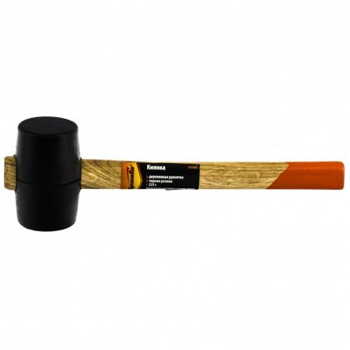 Киянка резиновая, 225 г, черная резина, деревянная рукоятка SPARTA 111305