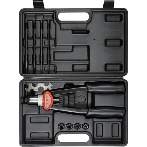Заклепочник для резьбовых заклепок,м5, м6, м8, м10, м12. YATO YT-36119