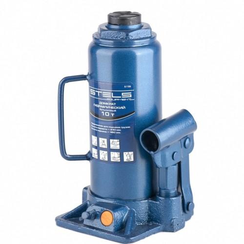 Домкрат гидравлический бутылочный, 10 т, H подъема 230-460 мм. STELS 51106