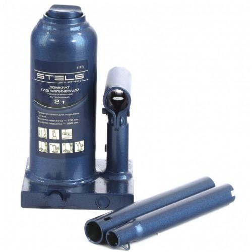 Домкрат гидравлический бутылочный телескопический, 2 т, H подъема 170-380 мм. STELS 51115