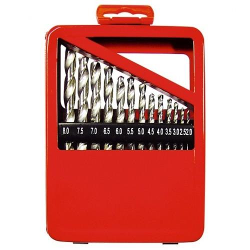 Набор сверл по металлу, 1-10 мм (через 0,5 мм), HSS, 19 шт, металлическая коробка, цилиндрический хвостовик. MATRIX