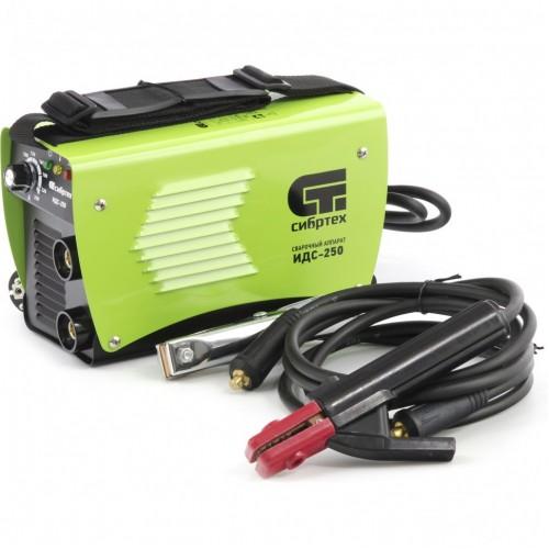 Аппарат инверторный дуговой сварки ИДС-250,250 А, ПВ 80%, D электрода 1,6-5 мм. СИБРТЕХ