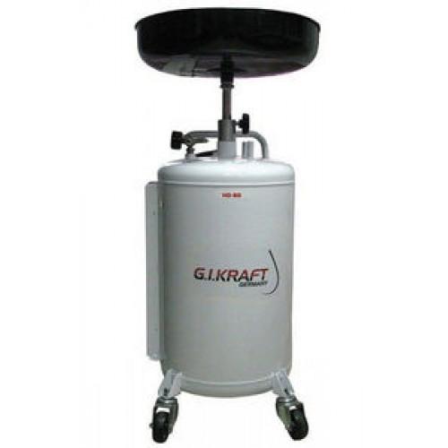 Установка для слива и откачки масла с пневмонасосом (80л.) G.I. KRAFT HD-806