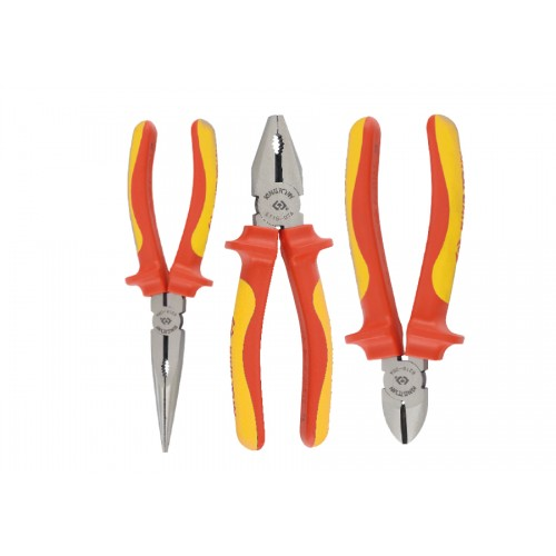 Набор инструментов  3ед, VDE  (кусачки щипцы пассатижи с изолмрованными рукоятками)