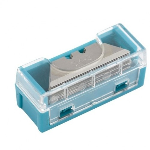 Лезвия МИНИ, 9 мм, трапециевидные, пластиковый пенал, 15 шт, GROSS