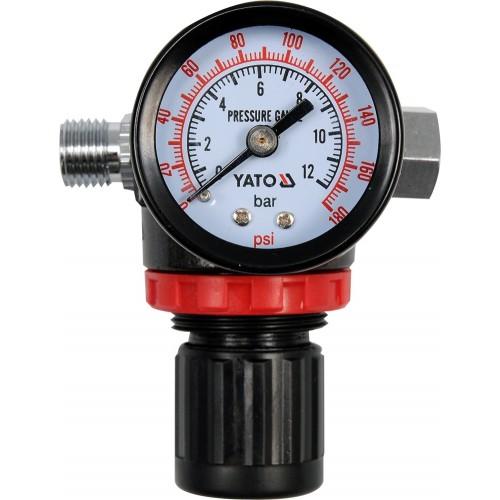 """Редукционный клапан, регулятор давления с манометром 1/4"""", p= 1.2 mpa"""