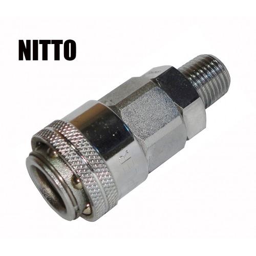 """Быстроразъем для пневмосистемы внешняя резьба тип Nitto 1/4"""" (m) SUMAKE 20SMO"""