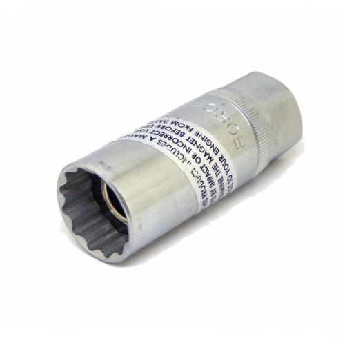 """Головка свечная 21мм.,1/2"""" магнитная (12гранная) FORCE 807420.6M F"""