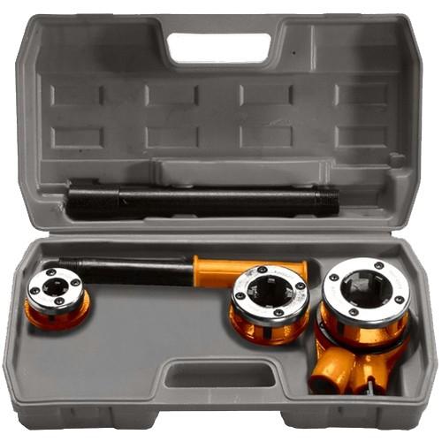 Набор клуппов 1/2-3/4-1, плашкодержатель с трещоткой, 6 предметов. SPARTA