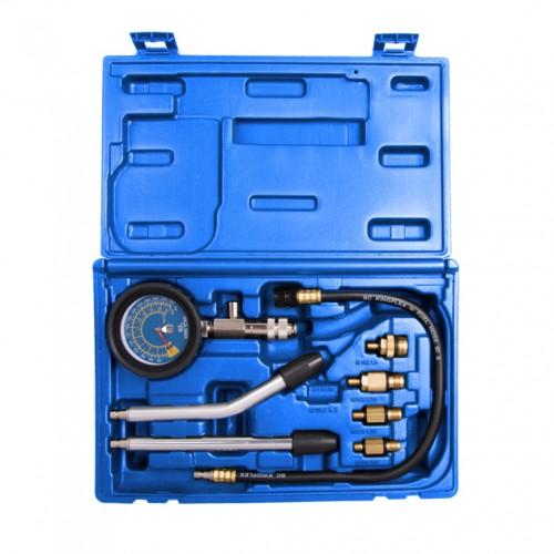 Компрессометр бензиновый, набор с гибкой, 2-мя жесткими насадками и переходниками