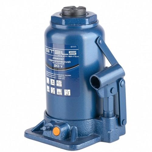 Домкрат гидравлический бутылочный, 20 т, H подъема 244-449 мм. STELS 51111
