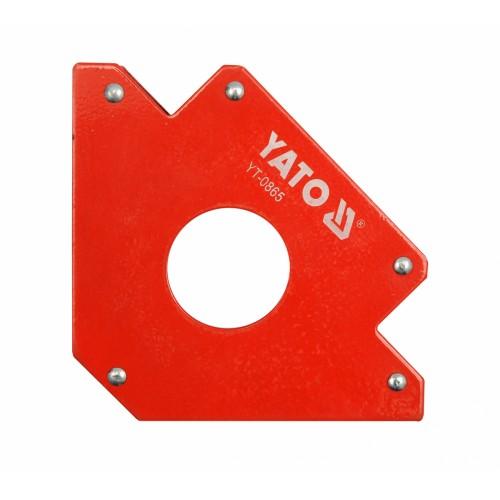 Магнитная струбцина для сварочных работ, размер: 122х190х25мм (углы 45 °, 90 ° и 135 °.) YATO YT-0865