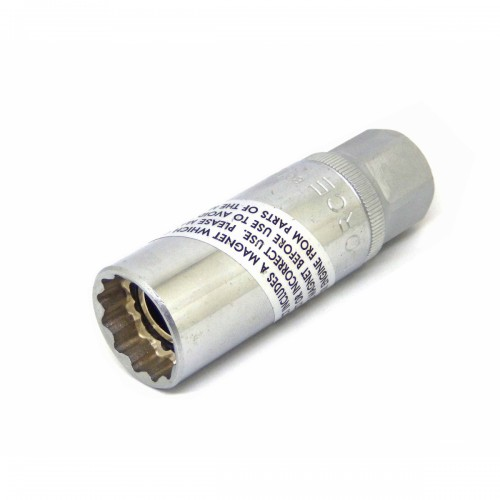 """Головка свечная 3/8""""  магнитная 20.6 мм, L=70 мм FORCE 807320.6M F"""