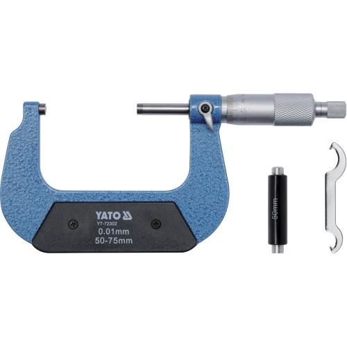 Микрометр, материал изготовления: сталь, диапазон измерения: от 50 до 75 мм., точность: 0,01 мм.