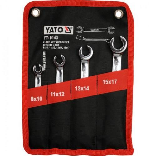 Набор разрезных ключей, 4 шт., размеры: 8х10, 11х12, 13х14, 15х17 мм
