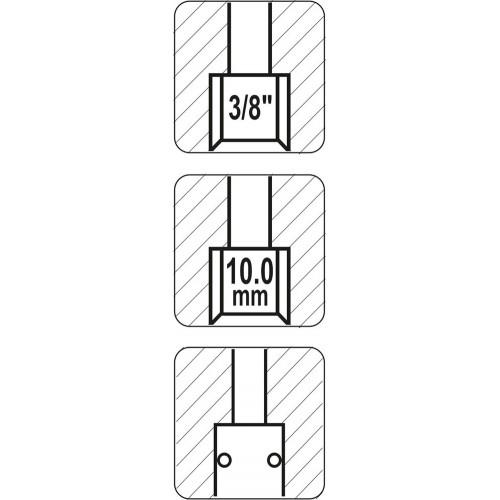 """Быстросъемное соединение (мама) внутренняя резьба 3/8"""" YATO YT-2394"""