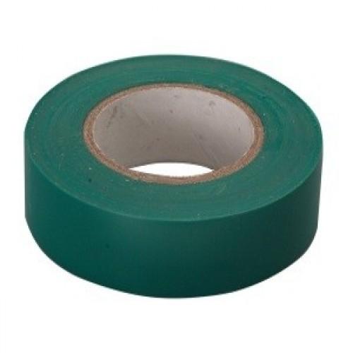 Изолента ПВХ, 15 мм х 10 м, зеленая СИБРТЕХ 88791