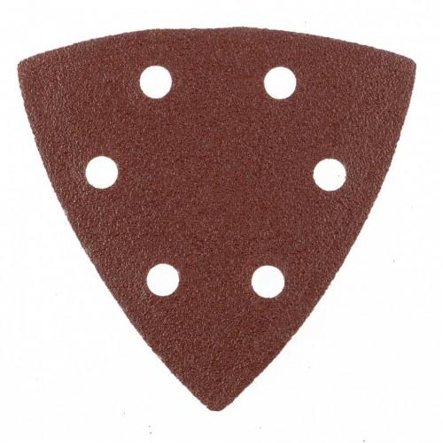 """Треугольник абразивный на ворсовой подложке под """"липучку"""", перфорированный, P 80, 93 мм, 5 шт. MATRIX"""
