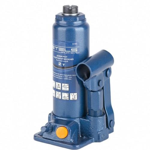 Домкрат гидравлический бутылочный, 2 т, H подъема 181-345 мм. STELS 51101