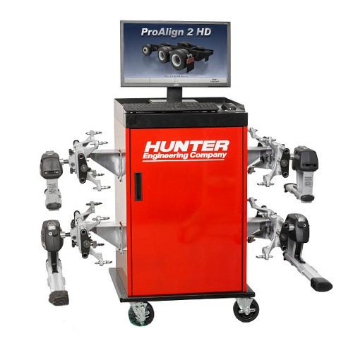 Стенд для РУУК грузовых автомобилей и автобусов, технология CCD ПО ProAlign HUNTER PA210E-DSP740T