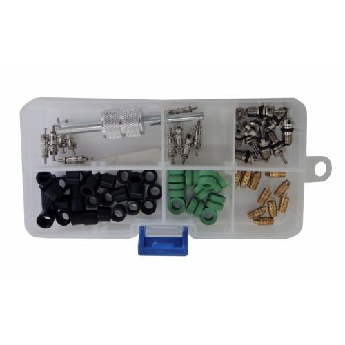 Набор для ремонта шлангов + ниппели + отвертка ниппельная CH-237