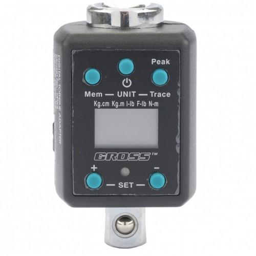 Ключ адаптер динамометрический электронный 40-200 Нм, 1/2. GROSS 14164