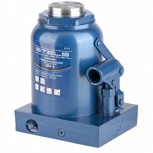 Домкрат гидравлический бутылочный, 30 т, H подъема 240-370 мм. STELS 51112