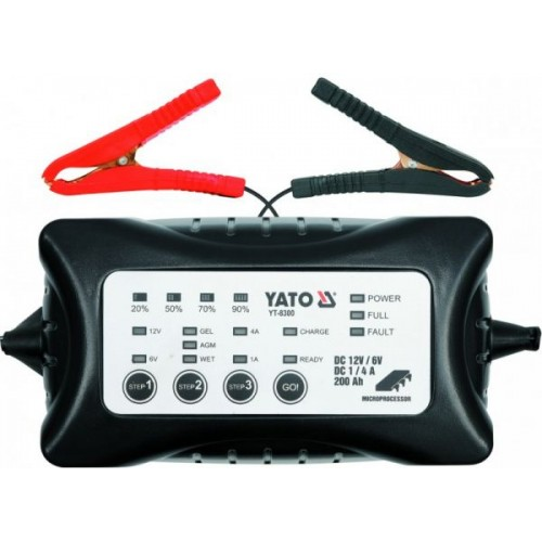 Зарядное устройство 6/12V 1-4А 200Ah YATO YT-8300