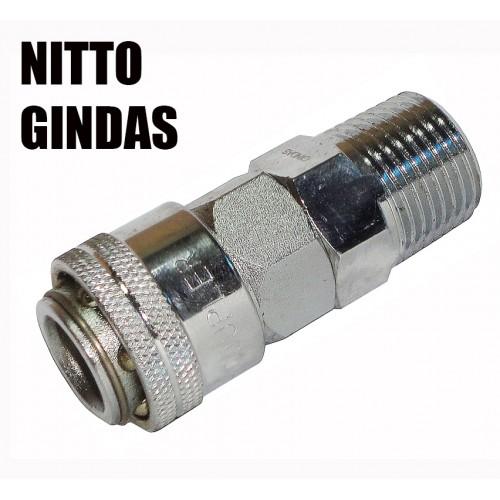 """Быстроразъем для пневмосистемы внешняя резьба тип Nitto 1/2"""" (m) SUMAKE 40SMO"""
