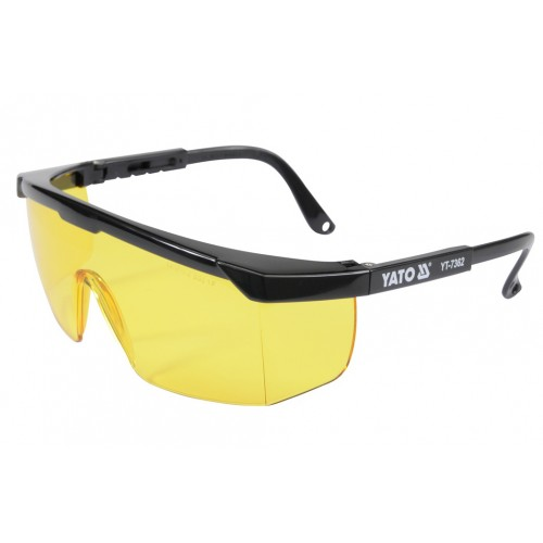 Очки защитные открытого типа, желтые YATO YT-7362