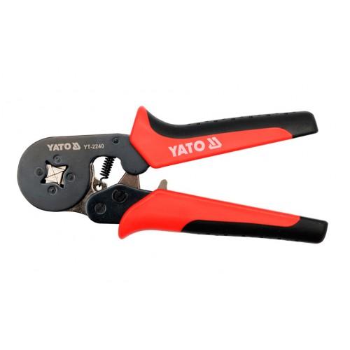 Инструмент для обжима клемм и зачистки проводов 0,2 - 6,0 мм2 YATO YT-2240