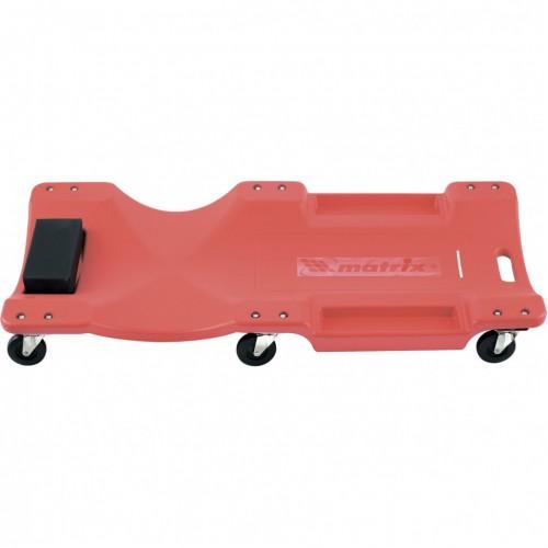 Лежак ремонтный на шести колесах, 1000 х 475 х 128 мм, пластиковый. MATRIX