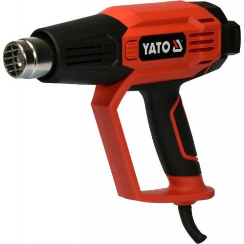 Фен технический 2 кВт, 50-600°C, 250-500 л/хв, 7режимов, функция пайки и охлаждения YATO YT-82295