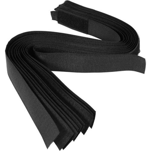 Хомуты-липучка черные 25 х 450 мм (10шт.) VOREL 73855