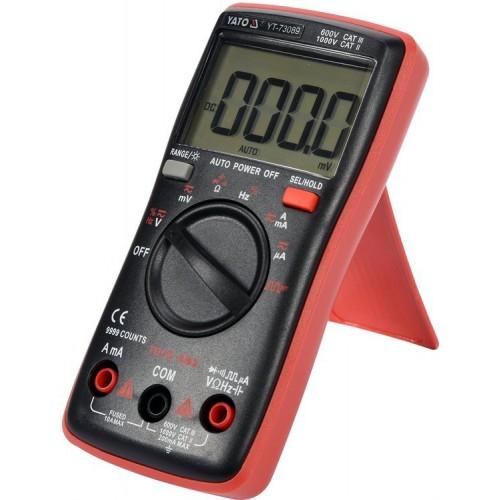 Мультиметр с функцией TRUE RMS  с диапазоном 9999 YT-73089 YATO