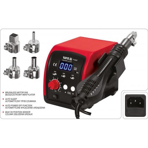 Фен-станция 750 Вт, t°= 100- 500°С,поток воздуха 120 л/хв, LCD табло, 4 форсунки YT-82457