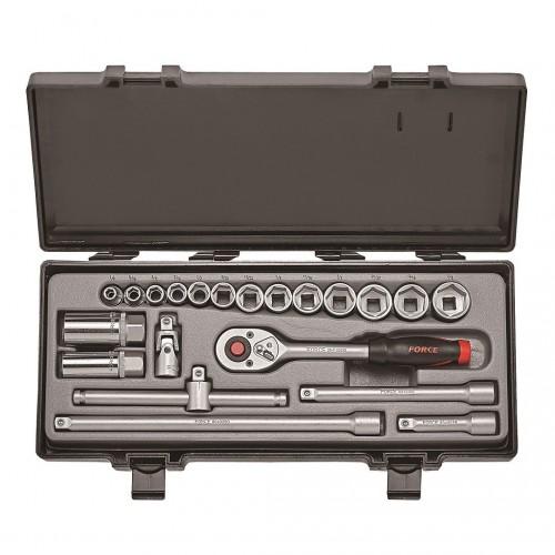 """Набор инструмента 3/8"""" 21 ед. 6 гр.дюймовый размер FORCE 3212 F"""