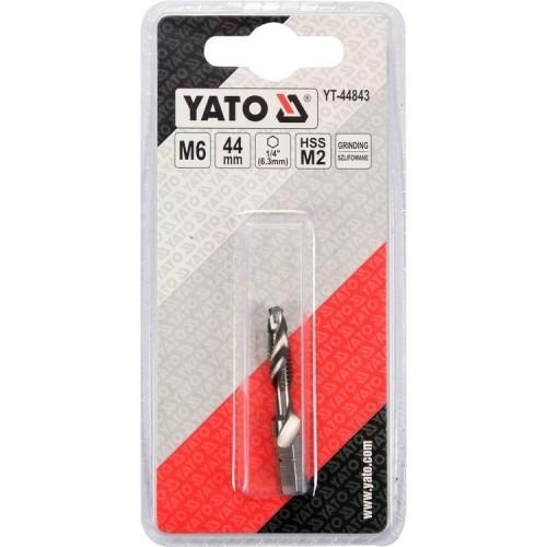 Сверло - метчик HSS M2 М6 х 1мм YATO YT-44843