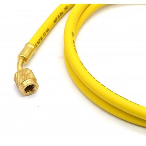 Гибкий шланг для обслуживания кондиционеров R134A, R22, R407C 1,5 м (Желтый) MASTERCOOL MC-41602