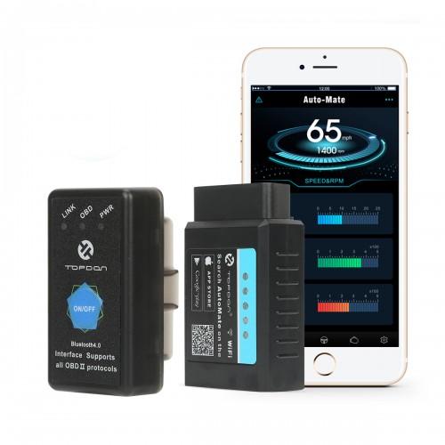 Диагностический Wi-Fi / Bluetooth OBD2 сканер Auto Mate TOPDON