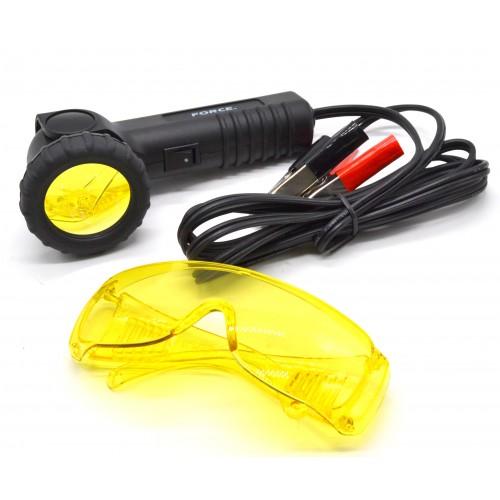 Ультрафиолетовый фонарь 65w и очки для определения утечки фреона 902G10 FORCE