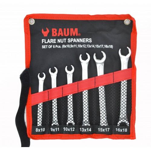 Набор разрезных ключей (8-18 мм) 6 предметов BAUM