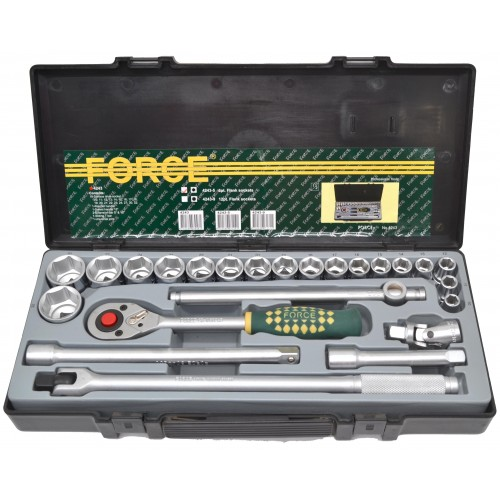 "Набор инструмента с силовым воротком 1/2"" и 6гранными головками 24ед. FORCE 4243-5 F"